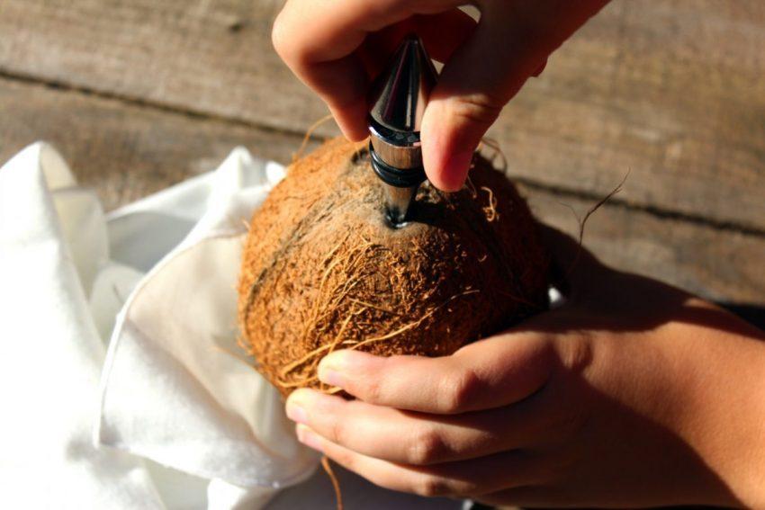 como abrir coco