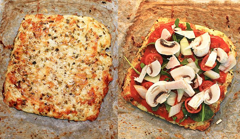 pizza fitness coliflor