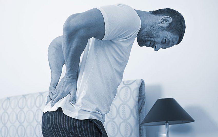Advertencia dolor en la parte baja de la espalda