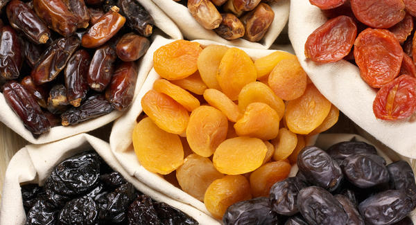 frutas secas confitadas