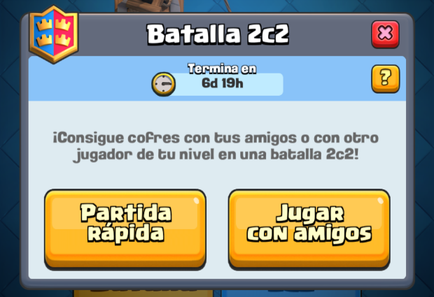 batallas 2v2 clash royale