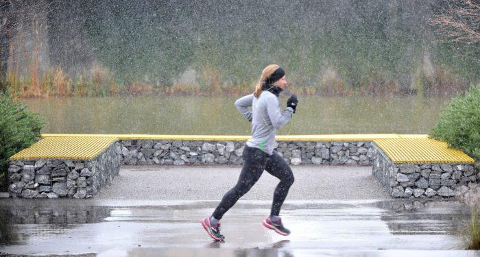 correr lluvia