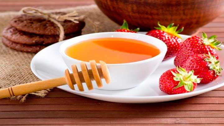 mascarilla fresas y miel