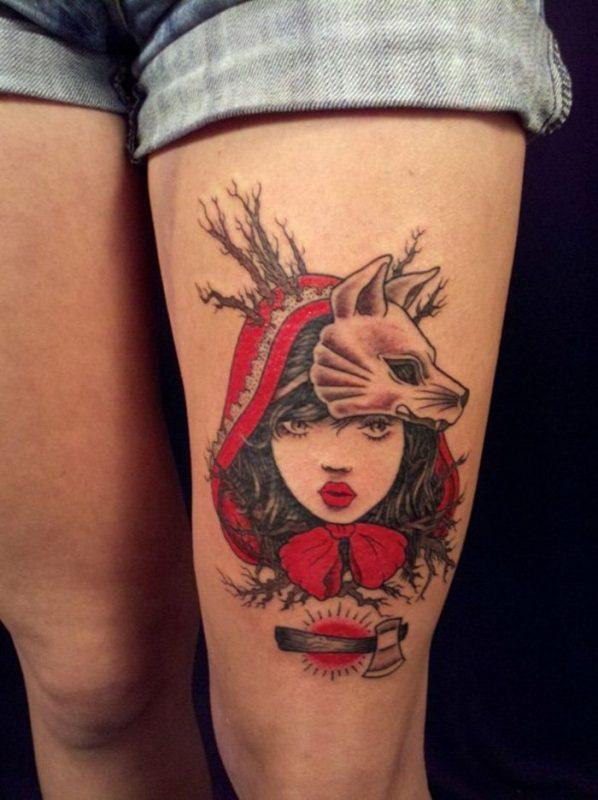 caperucita tatuaje