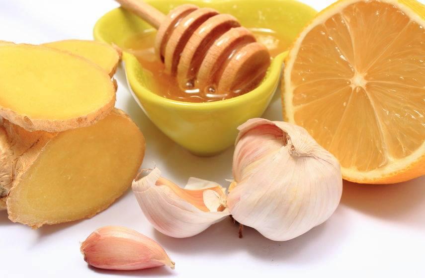 ajo, miel y naranja