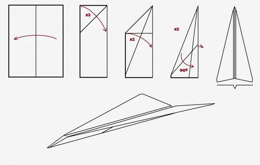 instrucciones hacer avion papel