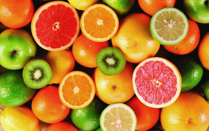 naranja y pomelo