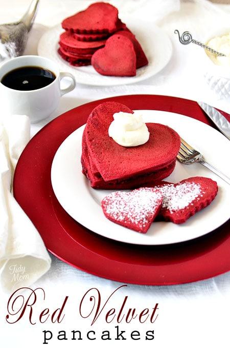 Panquecas red velvet recetas