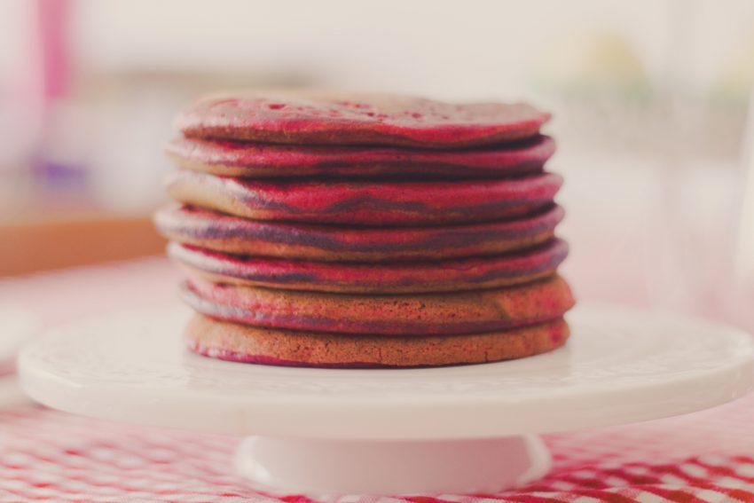 recetas Panquecas red velvet