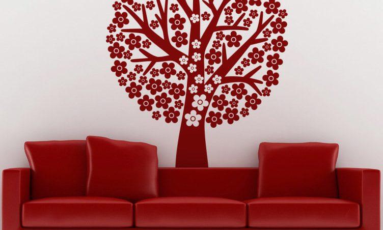 sofa rojo